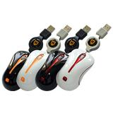 MICROPACK Retractable Optical Mini Mouse [MP-Y81R] - White/Orange - Mouse Mobile
